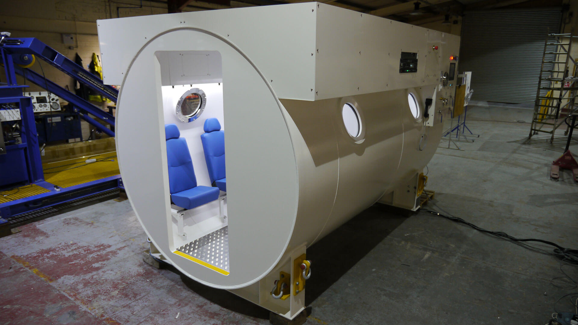 Exterior shot of completed hyperbaric chamber