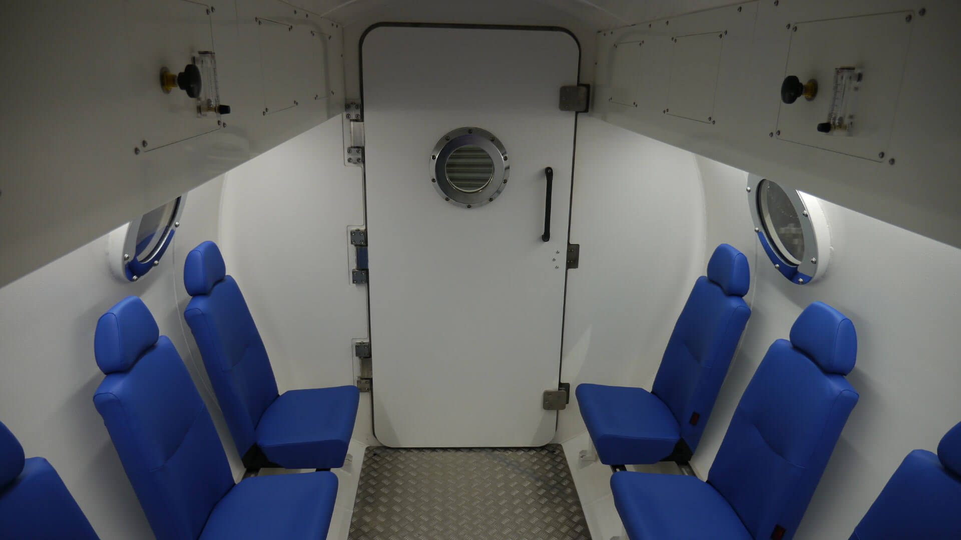 Interior of hyperbaric chamber